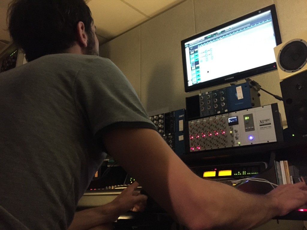 angel fall en studio, session de mixage album #2
